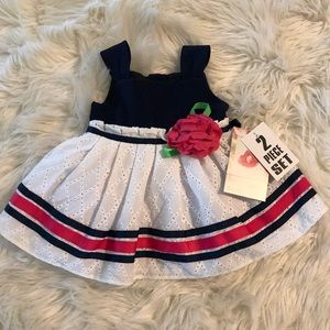 Sweet heart rose baby girl dress